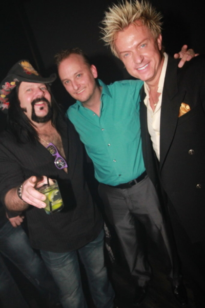 Brian Kip with Zowie Bowie and Vinnie Paul Las Vegas